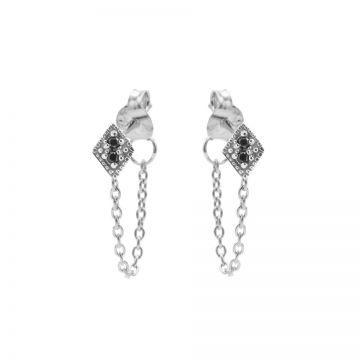 Chain Black Zirconia Diamond 2 Silver