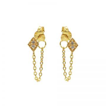 Chain Zirconia Diamond 2 Goldplated