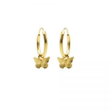 Hoops Symbols Butterfly Goldplated