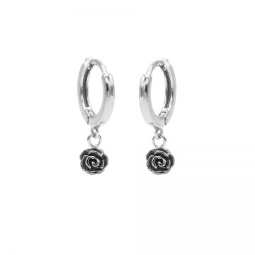 Hinged Hoops Rose Silver