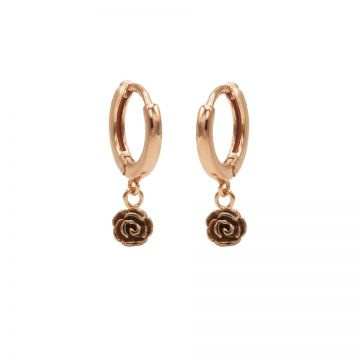 Hinged Hoops Rose Roseplated