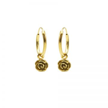Hoops Symbols Flower Rose Goldplated