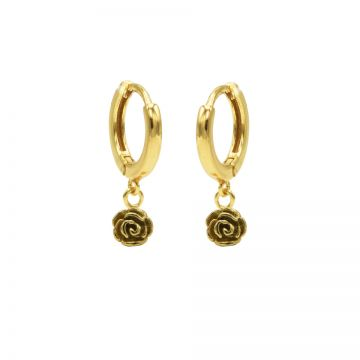 Hinged Hoops Rose Goldplated