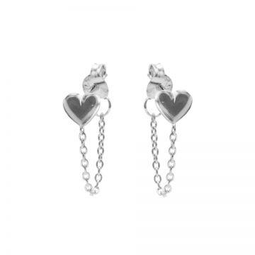 Chain Heart Silver
