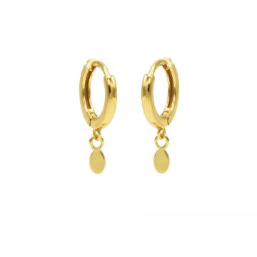 Hinged Hoops Tiny Oval Goldplated