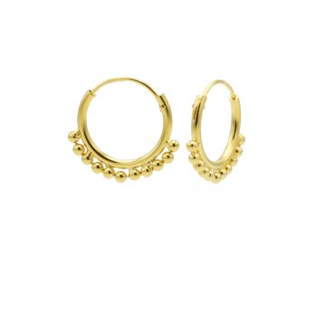 Hoops Symbols Solid Dots Row Goldplated