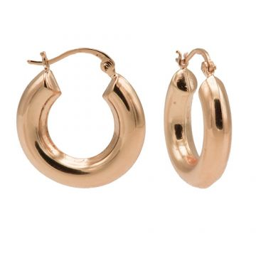 Plain Hoops Big Round Tube Roseplated 25MM