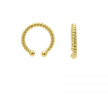 Earcuff Plain Twister Goldplated (1 piece)