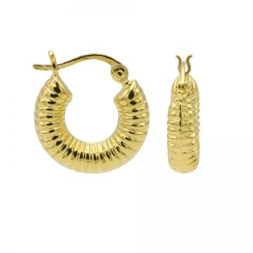 Plain Hoops Round Ribble Goldplated 17MM