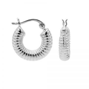 Plain Hoops Round Ribble Silver 17MM