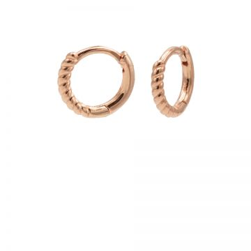 Plain Hinged Hoops Half Twisted 10MM Roseplated
