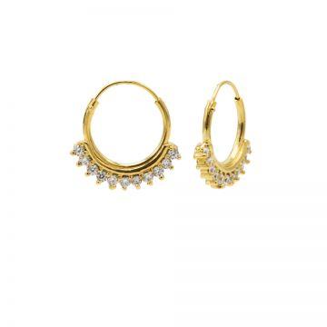 Hoops Symbols Solid Zirconia Row Goldplated
