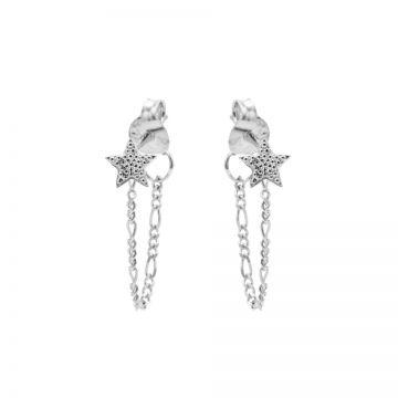 Chain Figaro Dotty Star Silver