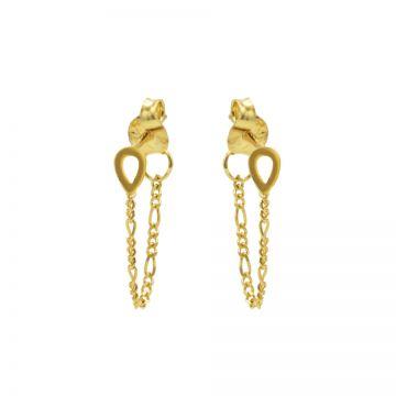 Chain Figaro Open Drop Mini Goldplated