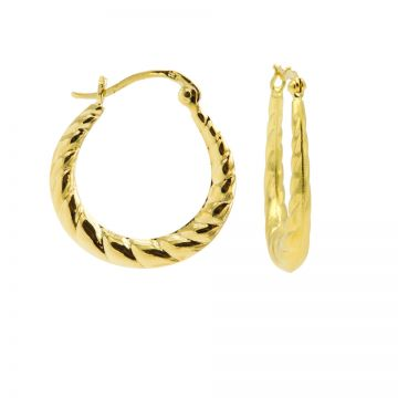 Plain Hoops Braided Goldplated 24MM