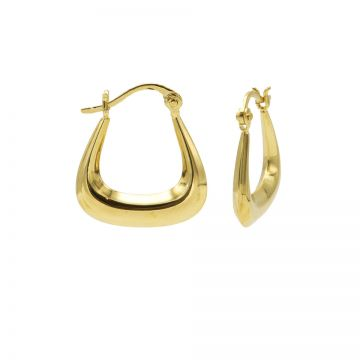 Plain Hoops Iron Goldplated 18MM