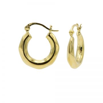 Plain Hoops Hammered Diamond Goldplated 20MM