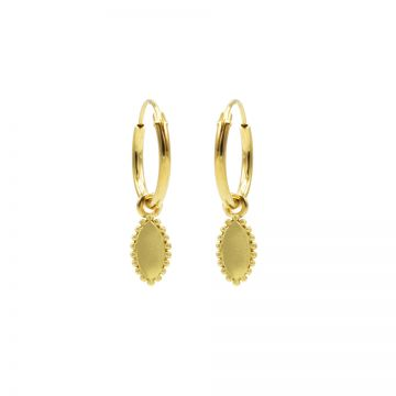 Hoops Symbols Pointy Oval Goldplated