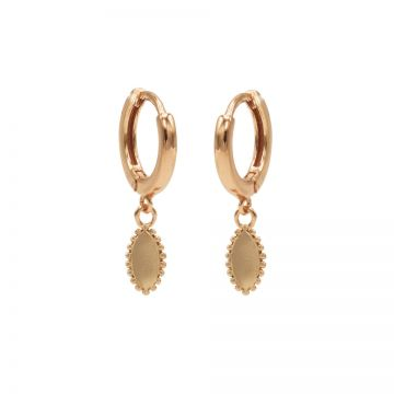 Hinged Hoops Pointy Oval Roseplated