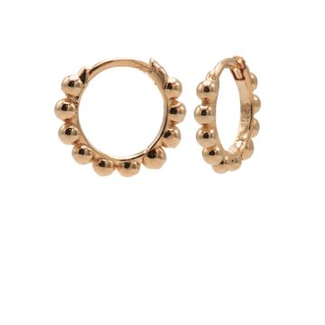 Plain Hinged Hoops Dots Roseplated 10MM