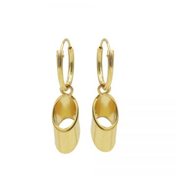 Hoops Symbols Hollow Tubes Goldplated