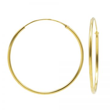 Plain Hoops Goldplated 40-45-50-55-60MM
