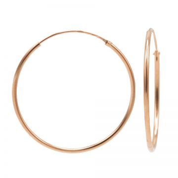 Plain Hoops Roseplated 40-45-50-55-60MM