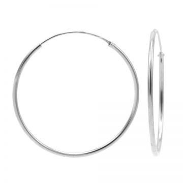 Plain Hoops Silver 40-45-50-55-60MM