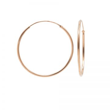 Plain Hoops Roseplated 20-25-30-35MM