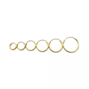 Plain Hoops Goldplated 8-10-12-14-16-18MM
