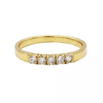 Ring 4 Zirconia Goldplated