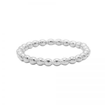 Ring Dots Plain Silver