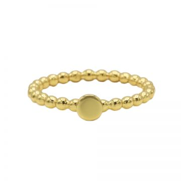 Ring Dots Disc Goldplated