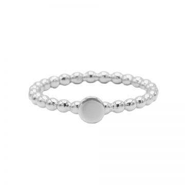 Ring Dots Disc Silver