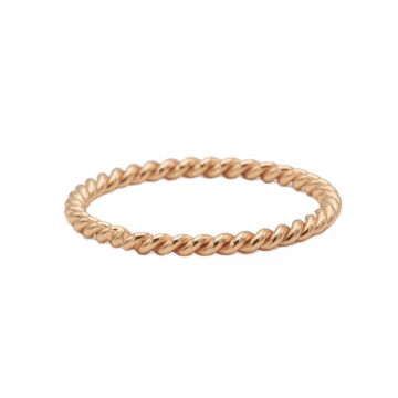 Ring Twisted Plain Roseplated