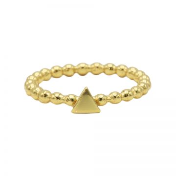 Ring Dots Triangle Goldplated