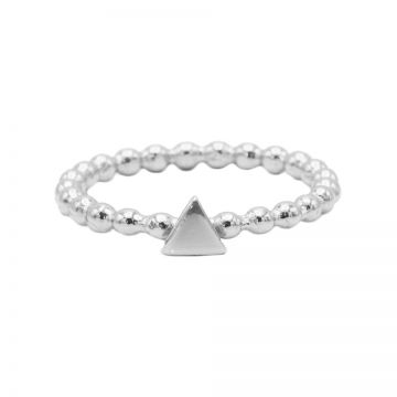 Ring Dots Triangle Silver