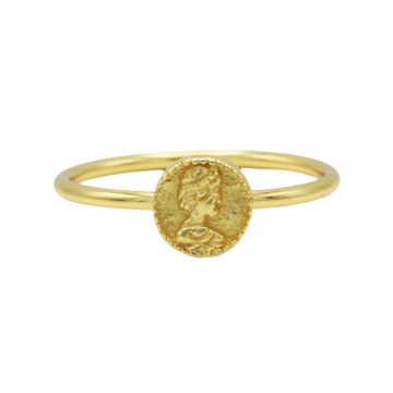 Ring Coin Goldplated