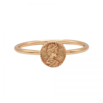 Ring Coin Roseplated