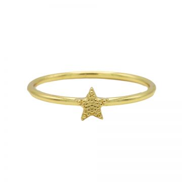 Ring Star Goldplated