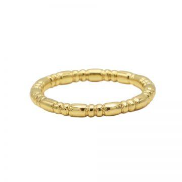 Ring Dots Tube Goldplated