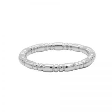 Ring Dots Tube Silver