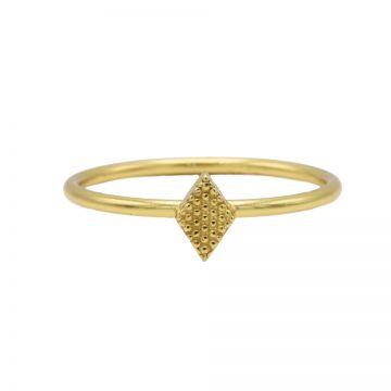 Ring Diamond Shape Goldplated