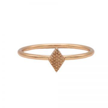 Ring Diamond Shape Roseplated