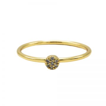 Ring Diamond Disc Goldplated