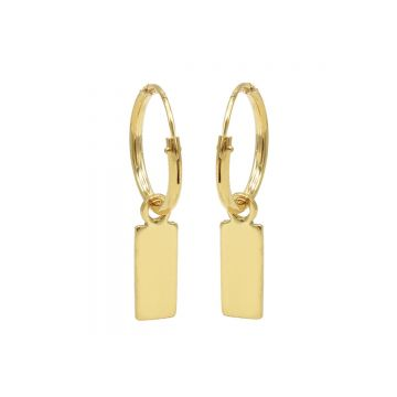 Hoops Symbols Mini Rectangle Goldplated
