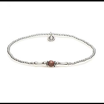 XS Balistyle Bracelet Silver Red Rodonite