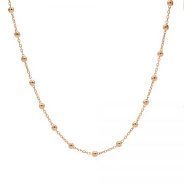 Necklace Dots Roseplated 50-57CM