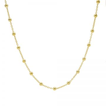 Necklace Dots Goldplated 50-57CM