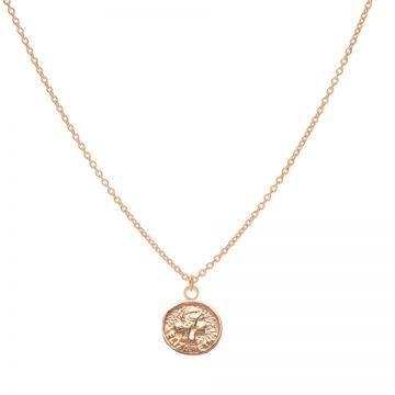 Necklace Elisabeth Coin Roseplated 50-57CM